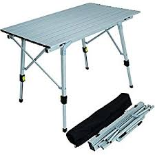 Quest Packaway Slatted Alloy Table