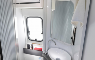 Adria Twin Supreme 600 SPB White Washroom